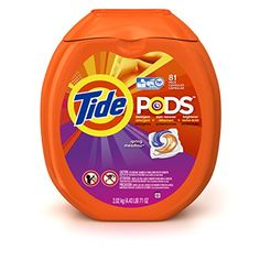 Tide pods (spring meadow) clean, brighten and fight stains.