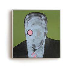 NUMERO32 - Anonymous Project, Oil on Canvas 50x50 cm Piergiorgio Del Ben//Peter Of Good, Visual Artist, Painter.
