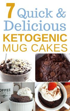 Looking for a quick keto dessert for one? Try this keto mug cake in microwave that's moist, delicious and easy to make. These keto chocolate mug cakes are the best healthy desserts for one in microwave! Keto Desserts To Buy, Quick Keto Dessert, Keto Friendly Desserts, Sugar Free Desserts, Low Carb Desserts, Dessert Recipes, Healthy Desserts, Keto Recipes, Dessert Ideas