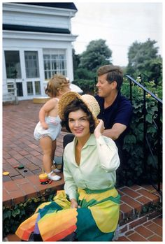 Caroline Kennedy, John F. Kennedy and Jacqueline Kennedy at Hyannis Port Photo Mark Shaw