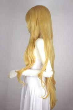 Blonde Heat Friendly Long Hair Wig/Lolita Animation Cosplay Wig/Party Wig