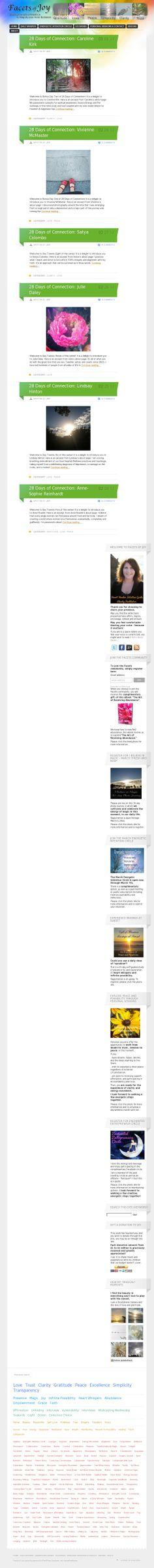 The website 'facetsofjoy.com' courtesy of @Pinstamatic (http://pinstamatic.com)