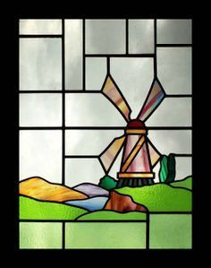Image result for stained glass windmill