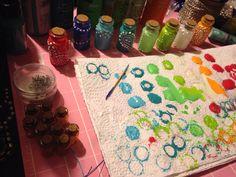 Rainbow paint bottle necklaces