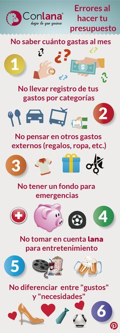 Estos son algunos de los errores que cometemos cuando hacemos un #presupuesto #Conlana #Dinero #Ahorro