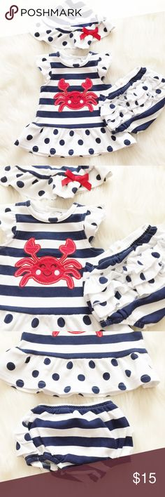 Starting Out Red, White & Blue Outfit Super cute red white & blue outfit perfect for your darling little mini me! Worn once. Reasonable offers always accepted. Bundle more to save more ✨ Starting Out Matching Sets
