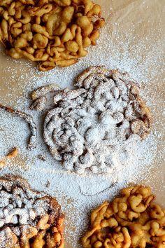 Cinnamon Sugar Funnel Cake // http://joythebaker.com/2015/07/cinnamon-sugar-funnel-cake-with-peaches-and-raspberries/