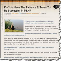 Why Patience is Required in Network Marketing --- #blogs #networkmarketing #network_marketing #enlightenednetworker