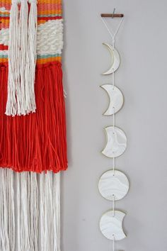 DIY: clay phases of the moon garland