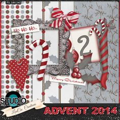 Digital Scrapbooking Studio Day 02: Advents Calendar 2014 - Welcome to Day 02 of our 2014 Advent Calendar!  Every day till Christmas there will be a new FREE download from theStudio Design Team.  Today's download is brought to you by LouCee Creations.