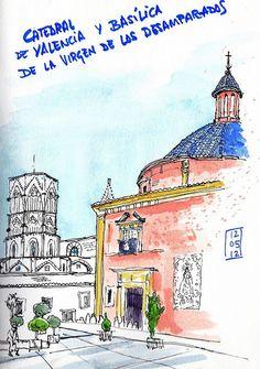 Basílica y catedral desde el Almudín by Josep Castellanos, via Flickr