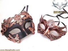 Couple Roman Gladiator Masquerade Ball Mask pair Steampunk School Prom Party