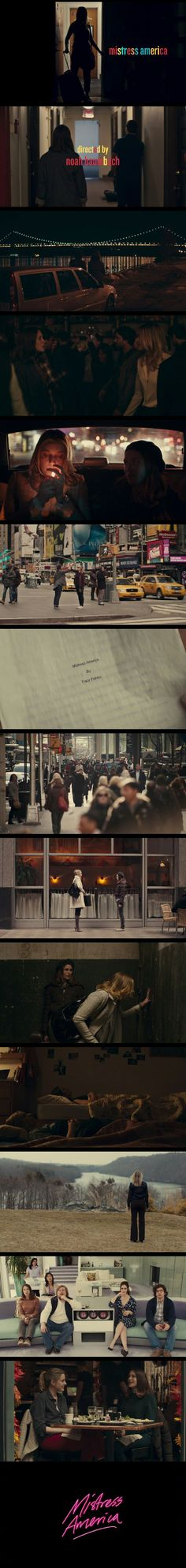Mistress America (2015) Directed by Noah Baumbach. Starring Greta Gerwig and Lola Kirke in leading roles.