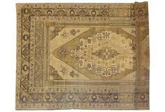 "Wool pile handmade very fine vintage Kars rug; 8'8"" x 5'7"". OKL price: $4,295.00."