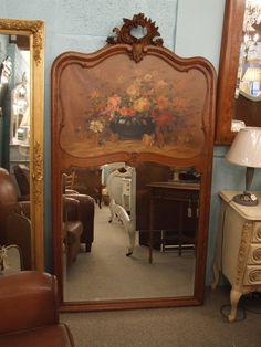 P073 - Beautiful Vintage Trumeau Mirror