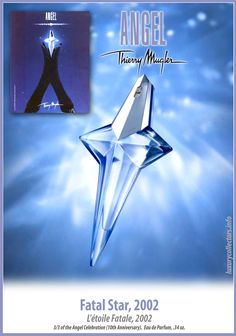 Thierry Mugler Angel Perfume Collector's Limited Edition Bottle 2002 Fatal Star 10 Years Anniversary
