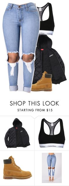 """""""Untitled #295"""" by liveitup-167 ❤ liked on Polyvore featuring Calvin Klein Underwear and Timberland"""