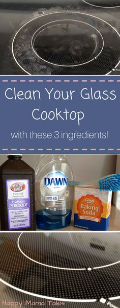 deep clean your glass cooktop with these 3 ingredients that you already have at your house - Cleaning Kitchen Cabinet Doors