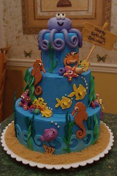 Under the Sea  By CynthiaSmith on CakeCentral.com