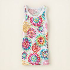 girl - tanks & camis - matchables print tank top   Childrens Clothing   Kids Clothes   The Childrens Place