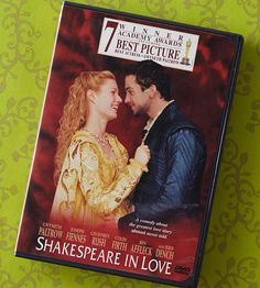 Romantic Movies for Valentine's Day: Shakespeare in Love (1998)  Starring: Gwyneth Paltrow and Joseph Fiennes