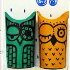 Owls Made With Tubes Of Toilet Paper In Spanish English