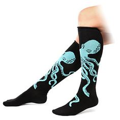 Care for your human appendages by wrapping them in these Octopus Knee Socks. Since you're human, you'll only need one pair! The eight legs of the octopus will hug your calves and keep them cozy warm.