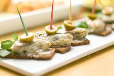 牡蠣のカナッペ