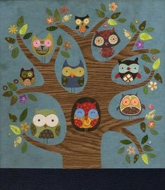 Friends of a Feather Owl Print, by Etsy seller Linda Solovic.