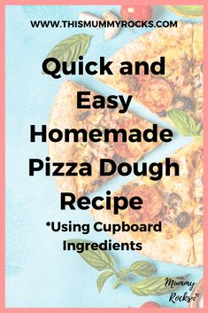 Homemade Pizza Dough Recipe that is quick and easy. Espcially for those last minute dinner options or a snack. Frugal Meals, Quick Easy Meals, Kids Meals, Frugal Recipes, Family Recipes, Baking Recipes, Vegetarian Recipes Easy, Easy Dinner Recipes, Pizza Recipes