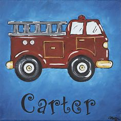 fire truck on canvas - Yahoo! Search Results