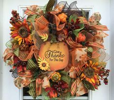 Shop Deco Mesh Wreaths For Fall on Wanelo