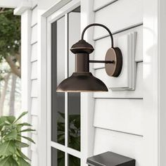 New Crandallwood Outdoor Barn Light by Beachcrest Home Patio Garden Furniture. Fashion is a popular style Outdoor Barn Lighting, Outdoor Ceiling Fans, Outdoor Sconces, Outdoor Light Fixtures, Outdoor Wall Lantern, Outdoor Walls, Indoor Outdoor, Rustic Outdoor, Exterior Lighting
