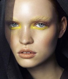 pastel yellow brows.