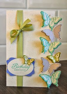 Julie's Japes - A Top Independent Stampin' Up! Demonstrator in the UK: Butterfly card re-made!