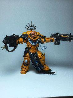Warhammer Art, Warhammer Models, Warhammer 40k Miniatures, Warhammer 40000, Imperial Fist, Space Marine, War Machine, Emperor, Minis