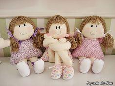 Bonecas de Pano by loja segredo da arte, via Flickr
