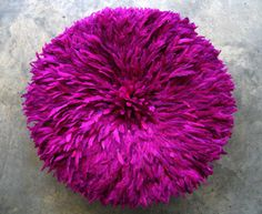 JuJu Feather Headdress in vibrant fuchsia!  Talk about adding high impact to a space.  Stunning on a wall or above the fireplace.