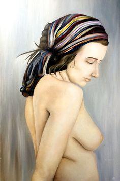 Oil paints on canvas.