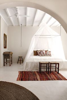 Spare bohemian. Peaceful and dreamy.