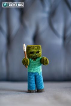 Today I added Zombie from Minecraft pattern to my stores, he is Minecraft pattern that I made. And yes, he has a shovel in his hand Pattern is here . Zombie from 'Minecraft', amigurumi pattern Minecraft Crochet Patterns, Minecraft Pattern, Minecraft Blanket, Amigurumi Tutorial, Amigurumi Patterns, Crochet Doll Pattern, Crochet Dolls, Crochet Gifts, Free Crochet