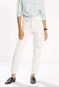 Wedgie Fit Jeans, $128; at Levi's (Yes, the fit Kylie Jenner swears by)   What to Wear With White Jeans—And the Best Ones to Shop RightNow
