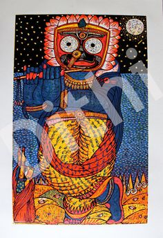 Krishna Jagannath ORIGINAL PVCcut Print by Deezden on Etsy, $250.00