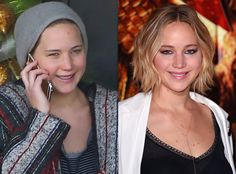 Jennifer Lawrence from Stars Without Makeup  Is it really a surprise that the girl who spent Thanksgiving in sweats would step out sans-concealer? Nope! Yet another reason to fawn over J.Law.