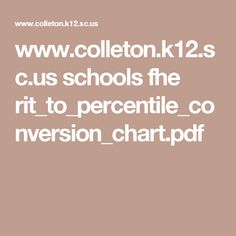www.colleton.k12.sc.us schools fhe rit_to_percentile_conversion_chart.pdf