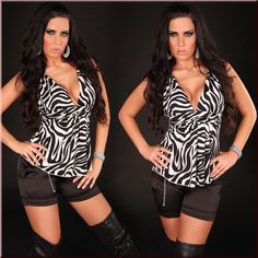 Babydoll Top With Embroidery Zebra