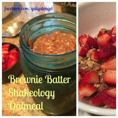 Brownie batter Shakeoloy oatmeal - protein packed dessert for breakfast!