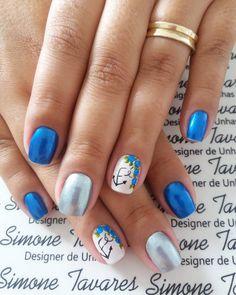 100 Fotos de Unhas decoradas Românticas Manicure, Nails, Grad Parties, Nail Art, Beauty, Design, Perfect Nails, Pretty Nails, Flower Nails