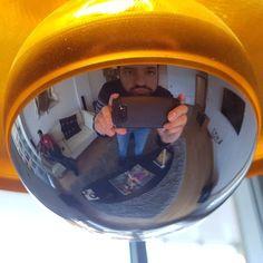 Strange mirror selfie  #reflections #selfie #yellow #lamp #samsungs8 #vasquecountry #goodnitesweethearts