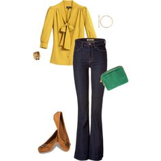 green & yellow - LOVE that top